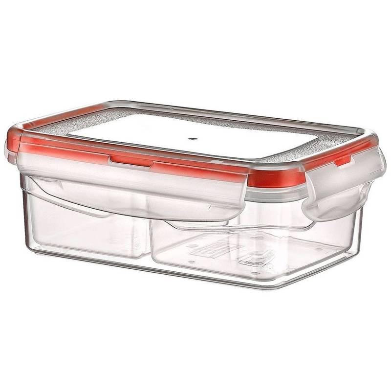 Pojemnik do żywności z uszczelką 0,4L prostokątny dzielony