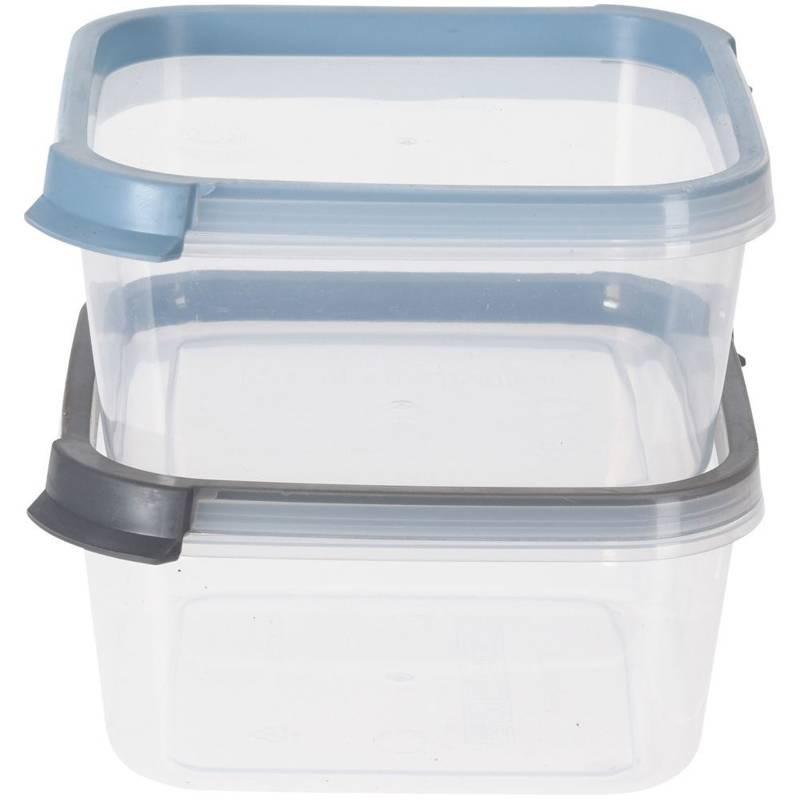 Pojemnik kuchenny do żywności, z pokrywką, zestaw, komplet pojemników 2 sztuki, 800 ml