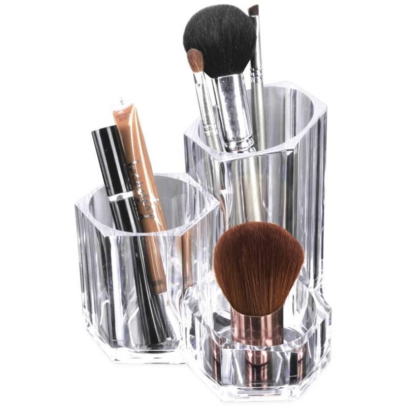 Pojemnik organizer akrylowy na kosmetyki make-up, akcesoria do makijażu