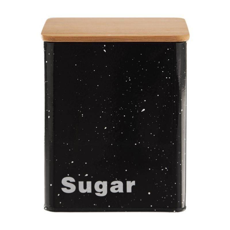 Pojemnik puszka na cukier SUGAR czarny ORION