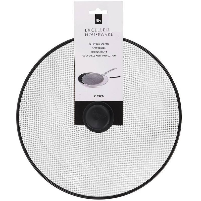 Pokrywka do patelni, garnka, siatka ochronna do smażenia, przeciw pryskaniu, 29 cm, czarna