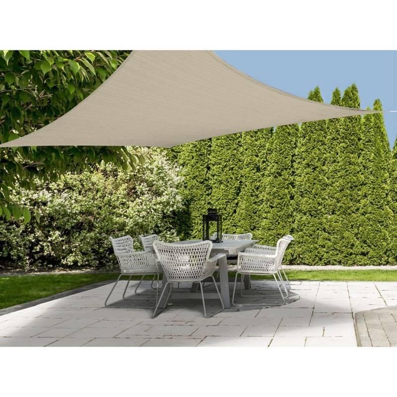 Przeciwsłoneczny żagiel ogrodowy, zacieniacz, markiza, parasol, + linki, 5 m, beżowy