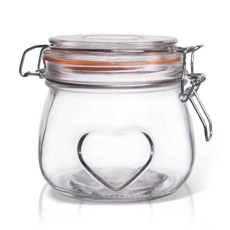 Słoik / pojemnik szklany patentowy BELA 0,5L SERCE