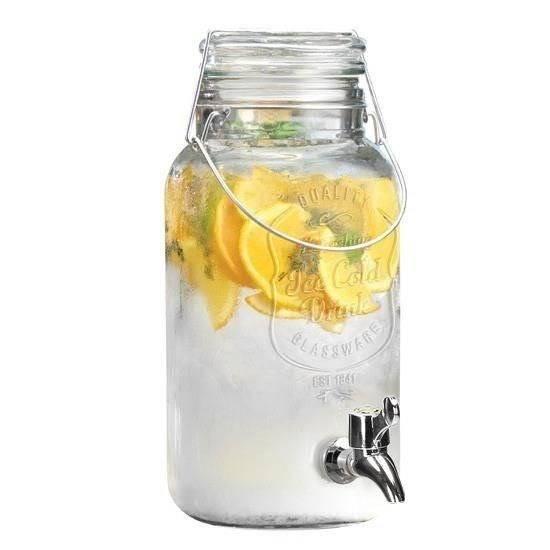 Słój SŁOIK z kranikiem kranem do napojów soku lemoniady wody 4L