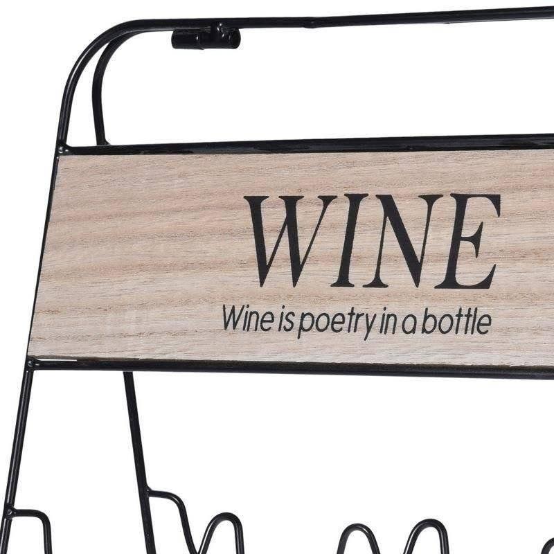 Stojak WINO regał na butelki wina - 9 butelek