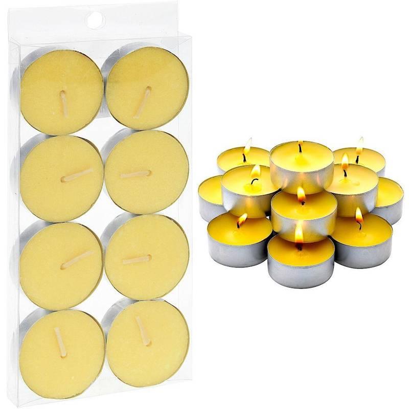 Świeca, świeczka przeciw komarom, citronella, antykomarowa, tea light, 8 sztuk