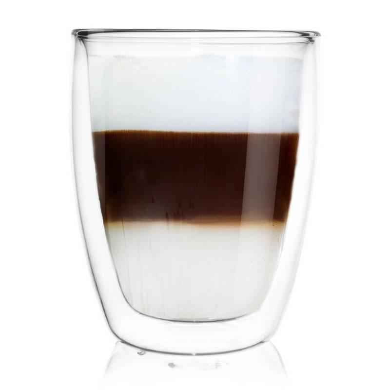 Szklanka termiczna z podwójną ścianką do kawy, latte, herbaty, 0,33 l