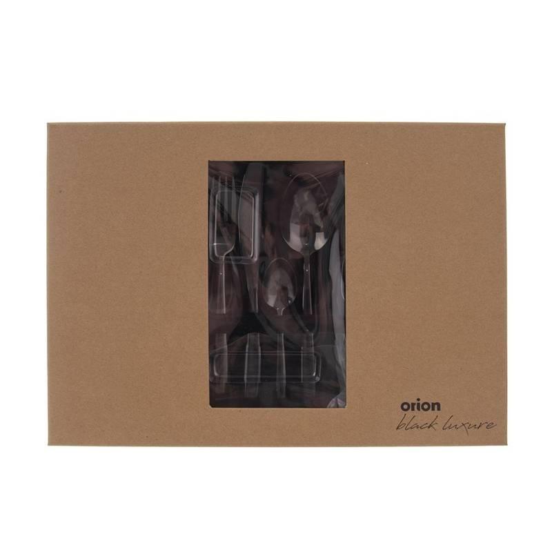 Sztućce CZARNE Black Luxure zestaw sztućców 24 el.