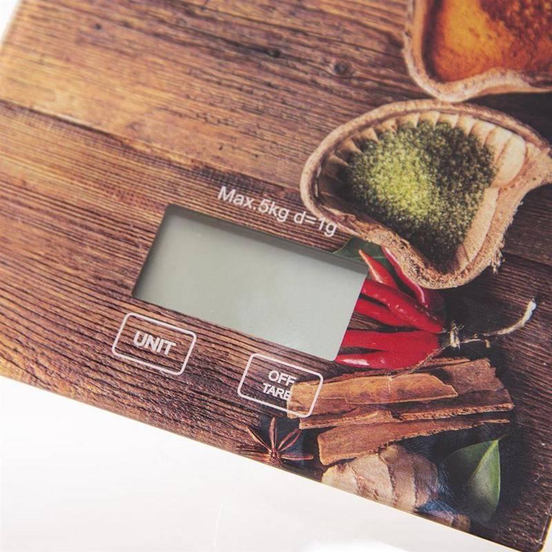 Waga kuchenna elektroniczna płaska szklana 5kg