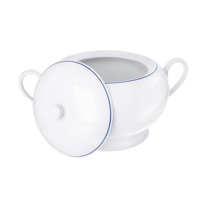 Waza porcelanowa na zupę z pokrywą 2,6L BLUE LINE