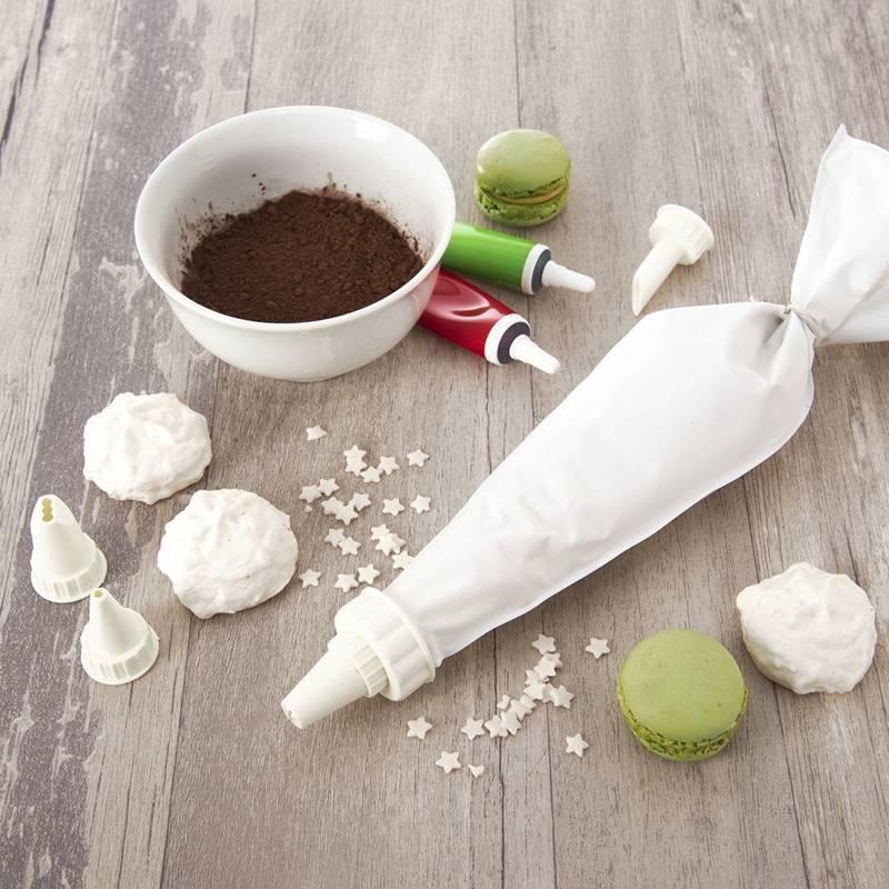 Zestaw do dekoracji tortów ciast patera obrotowa 28 cm + łopatki + worek dekorator cukierniczy + końcówki tylki 24 sztuki