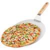 Łopata do pizzy, stalowa, z drewnianym uchwytem, 30,5 cm