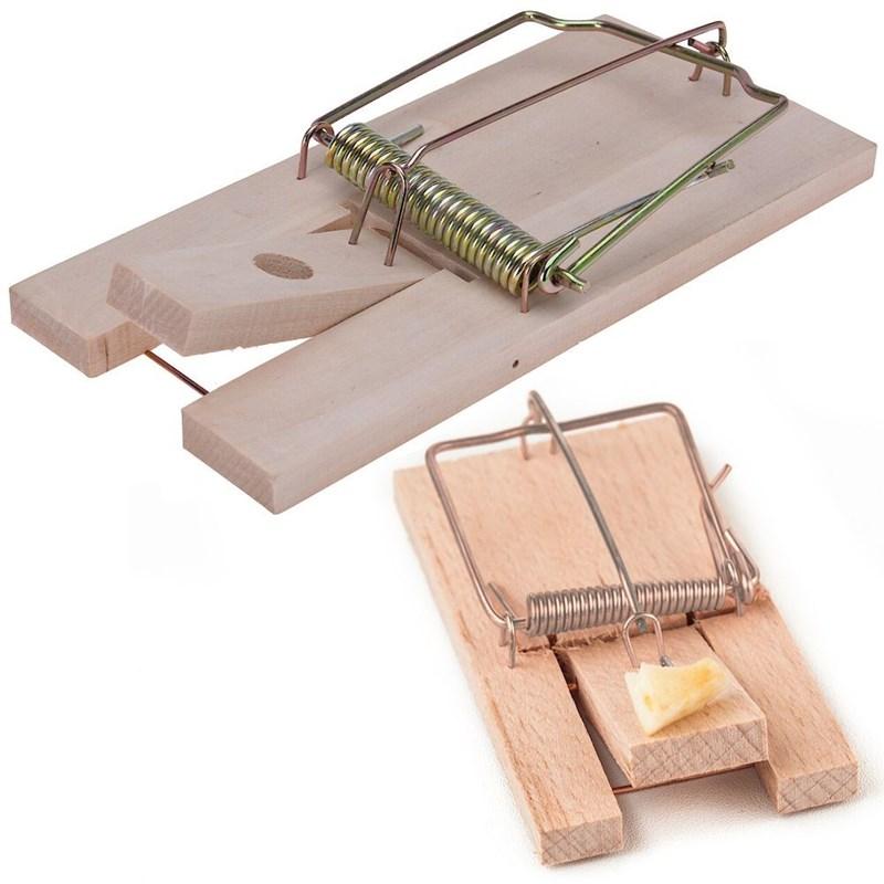 Capcană mare pentru șoareci, clasică, din lemn, 17,5x8,5 cm