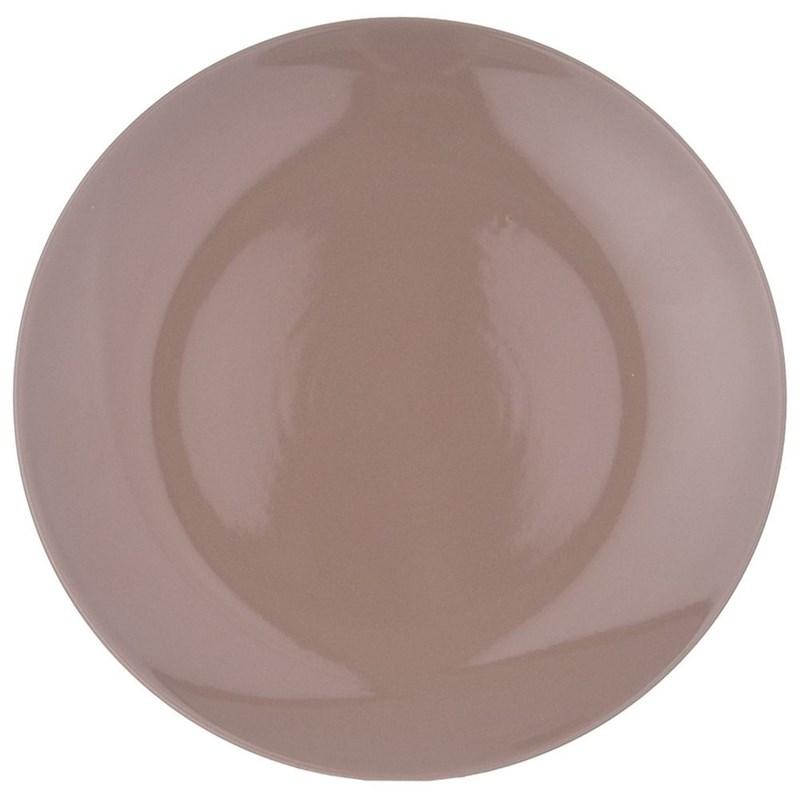 Farfurie, platou, platou de masă, puțin adânc, ceramică, 27,5 cm, maro
