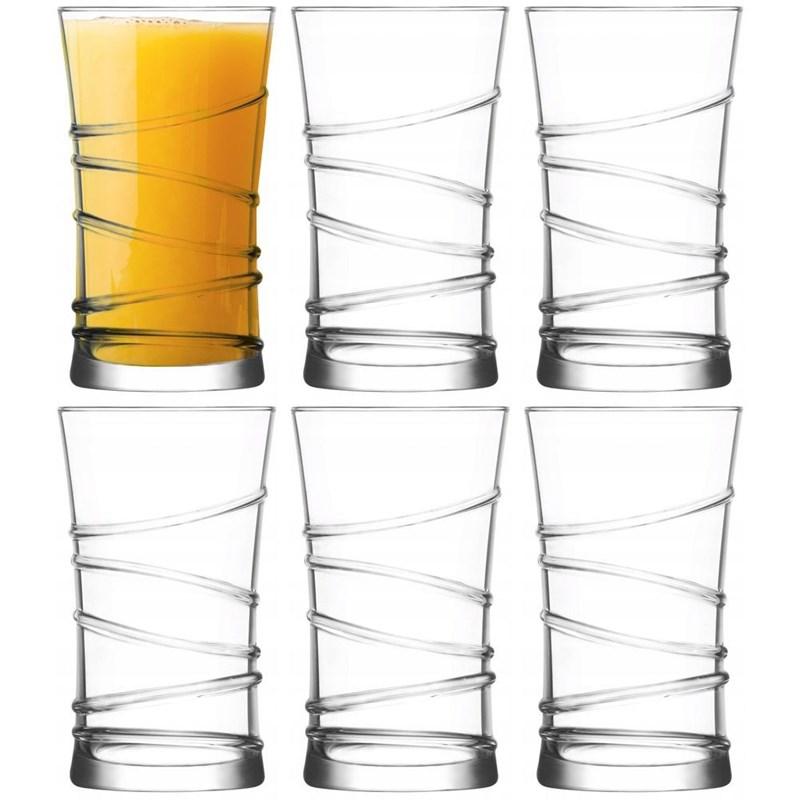 Pahar de apă, pahar de băuturi răcoritoare, pahar de suc, pahar de limonadă, pahar de băuturi răcoritoare, 350 ml, 6 bucăți, set, set de pahare