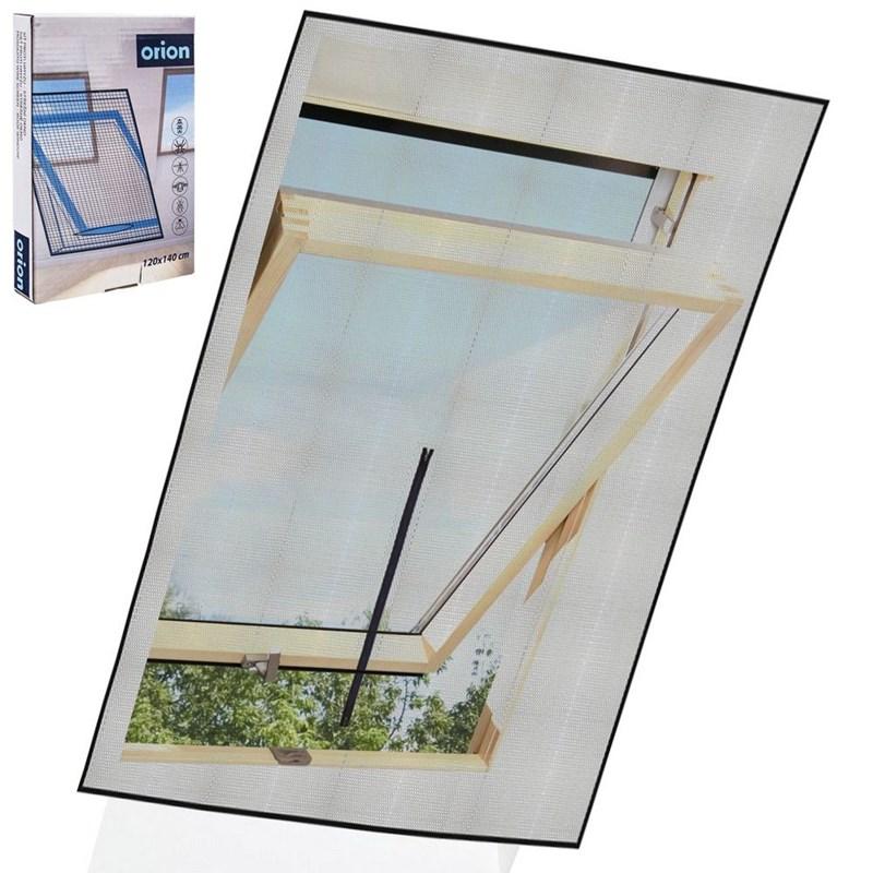 Plasă de țânțari pentru luminator, insecte, țânțari, 120x140 cm, negru