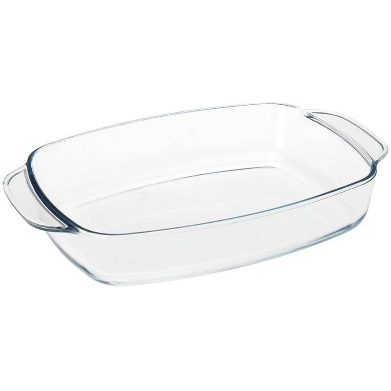 Coacere din sticlă termorezistentă, tavă de copt, tavă de prăjit, tavă de prăjit carne și legume, 1,4 l