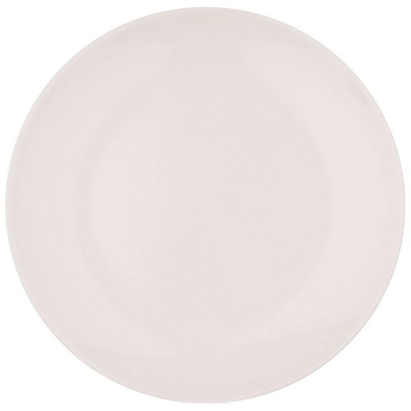 Farfurie de masă, ceramică de mică adâncime, 27,5 cm, crem