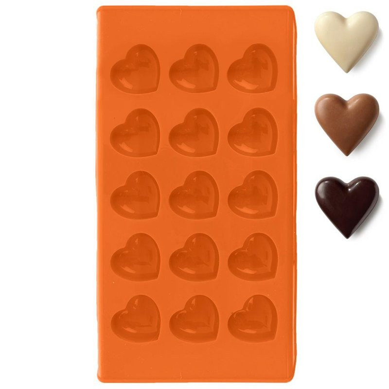 Formă de copt pentru prăjituri, praline, fursecuri, praline, silicon, inimioare
