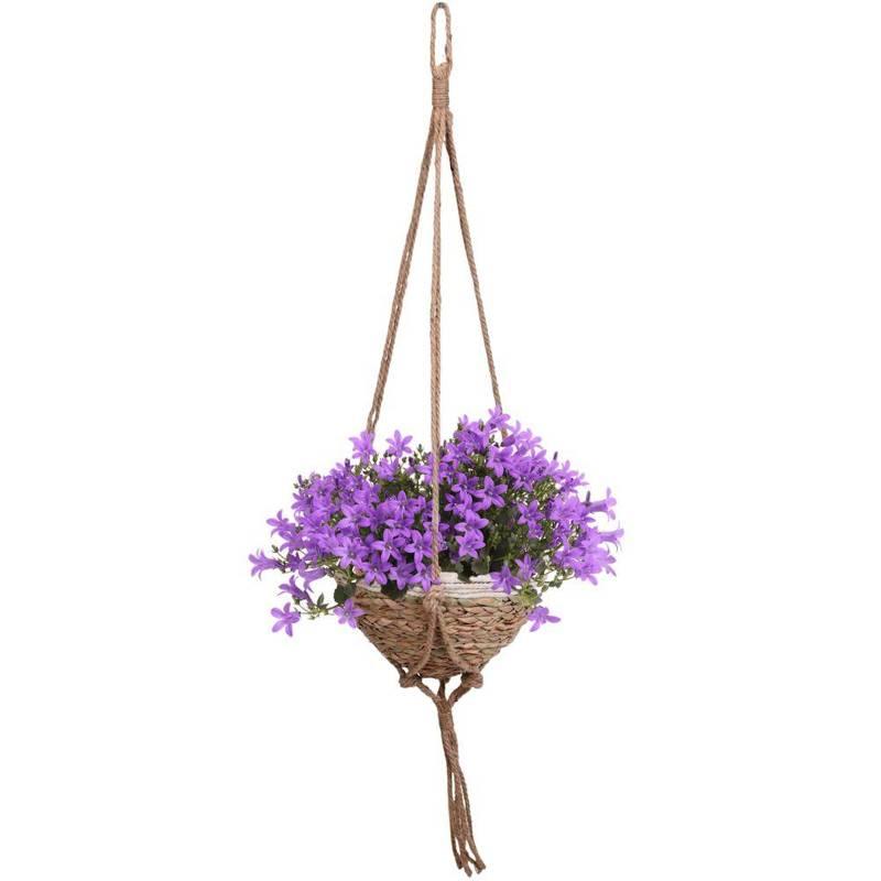 Ghiveci de flori, capac de agățat țesut, pentru flori, plante, 31x18 cm