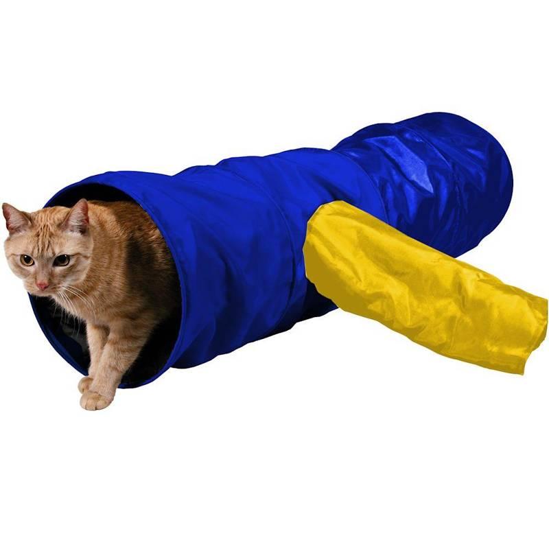 Jucărie, tunel pentru pisici, pentru joacă 30x115 cm