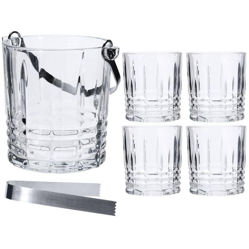 Pahare de whisky, + găleată de gheață, + clește, set, set, 5 el.