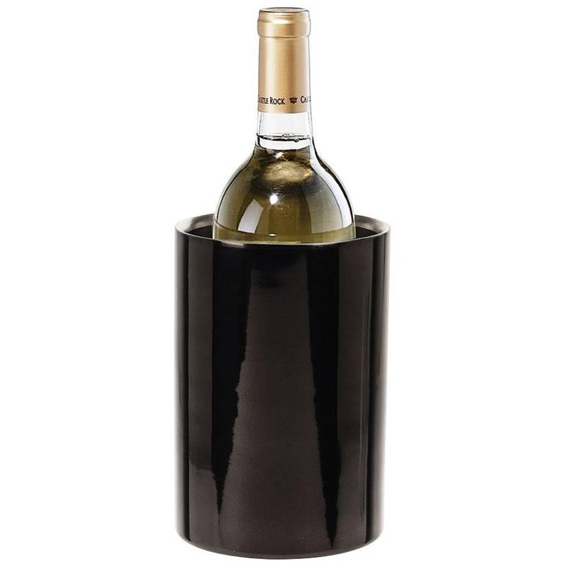 Recipient termos, recipient termic, recipient termic, răcitor, termos din oțel, negru, pentru sticlă, șampanie, vin, alcool